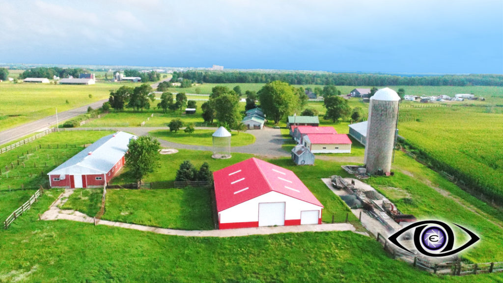 Aerial Drone Farm Real Estate Photography