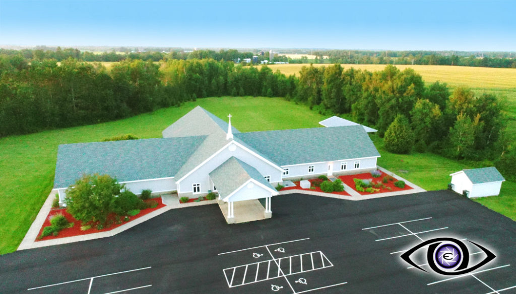 Aerial Drone Real Estate Photography Church
