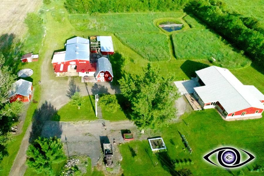 Aerial Drone Real Estate Photography Farm acres