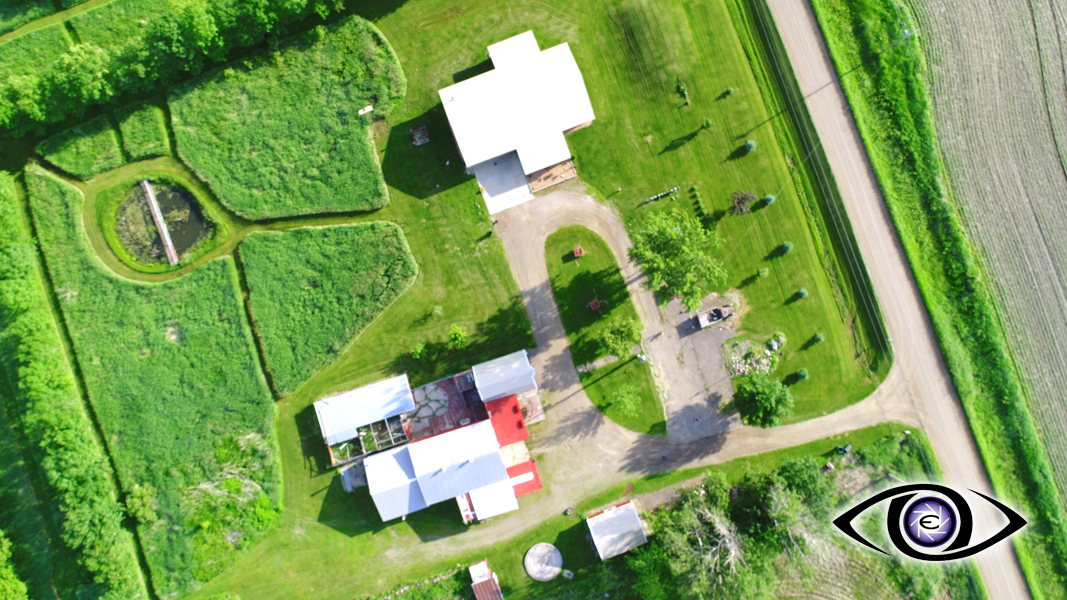 Aerial Drone Photography Real Estate Farm Acreage